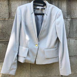 Calvin Klein Gray Stylish Chic Business Blazer 10
